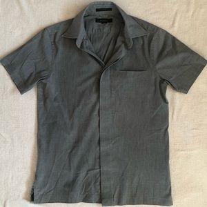 Express Men's Button down short sleeve